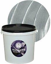 Wanders24 Metall-Optik (3 Liter, Silber) Wand-Farbe Metallic-Effect Metall-Effekt-Farbe