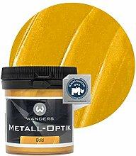 Wanders24® Metall-Optik (80 ml, Gold) Wandfarbe