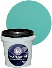 Wanders24 Shabby-Chic (1 Liter, Petrol) Kreide-Farbe Wand-Farbe Vintage Antik-Look
