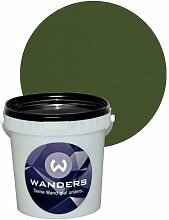 Wanders24 Tafelfarbe 1L. (Khaki Grün) matt Tafel-Farbe chalkboard Wand-Farbe, Wandfarbe Tafel-Lack, Tafellack