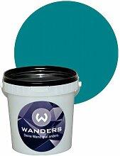 Wanders24 Tafelfarbe 1L. (Türkis) matt Tafel-Farbe chalkboard Wand-Farbe, Wandfarbe Tafel-Lack, Tafellack