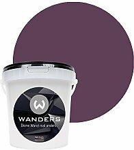 Wanders24 Tafelfarbe (1Liter, Violett) matte Wandfarbe in 15 Farbtönen erhältlich, individuelle Gestaltung für Zuhause, Farbe made in Germany