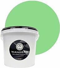 Wanders24 Tafelfarbe (3Liter, Hellgrün) matte Wandfarbe in 15 Farbtönen erhältlich, individuelle Gestaltung für Zuhause, Farbe made in Germany