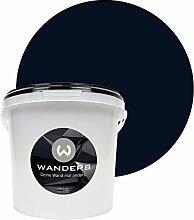 Wanders24 Tafelfarbe (3Liter, Schwarz) matte Wandfarbe in 15 Farbtönen erhältlich, individuelle Gestaltung für Zuhause, Farbe made in Germany