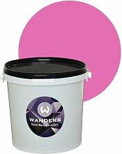 Wanders24 Tafelfarbe matt 15 Farbtöne (3 Liter, Pink) in 1L, 3L, 80ml, Wandfarbe Tafelwand-farbe kreativ abwaschbar beschreibbar Tafel-farbe Tafellack Tafel-lack Wand-farbe Tafel Wand