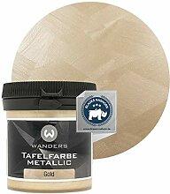 Wanders24® Tafelfarbe Metallic-Gold (80 ml)