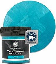 Wanders24® Tafelfarbe Metallic-Türkis (80 ml)