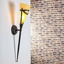 Wandfackel für stimmungsvolles Licht | Wandleuchte inklusive Leuchtmittel E14 40Wa