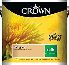 Wandfarbe Crown Silk Emulsion, 2,5L - Farbe: Old Gold