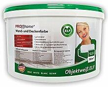 Wandfarbe PROFHOME Objektweiß Innenfarbe Farbe hochergiebig gut deckend matt weiß ELF | 12,5 Liter Eimer für max. 85 qm