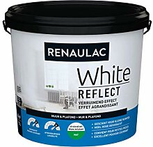 Wandfarbe, Renaulac White Reflect, Mattweiß, 5 l
