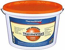 Wandfarbe - Thermoshield thermovital - Membran Endotermica für Innen ideal gegen die Schimmel gebrauchsfertig verbessert die Isolierung THERMO Wohnungen im Sommer und im Winter. Farbe weiß (5 Liter) [Video ITA] https://youtu.be/_coh7o83uyi
