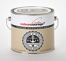 Wandfarben - colourcourage® Premium Wandfarbe matt Mute Shadow