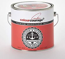 Wandfarben - colourcourage® Premium Wandfarbe matt Salt Red