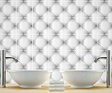 Wandfliesen Badezimmer Aufkleber Dekoration Capitone Design Ideen (Packung mit 24) - 15 x 15 cm
