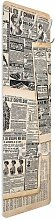 Wandgarderobe Antike Zeitungen ClearAmbient