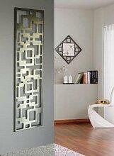 Wandgarderobe / Garderobe Design Downtown, 140x40x2 cm, Edelstahl mattiert (Marke: Szagato, Made in Germany) (Kleiderständer, Garderobenständer, Wandpaneel, Wanddeko)