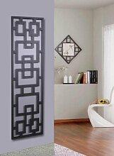 Wandgarderobe / Garderobe Design Rechteck, 140x40x2 cm, silber (Marke: Szagato, Made in Germany) (Kleiderständer, Garderobenständer, Wandpaneel, Wanddeko)