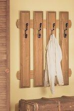 Wandgarderobe Garderobenpaneel mit 4 Haken 1521