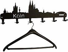 Wandgarderobe - Köln Skyline - Flurgarderobe -
