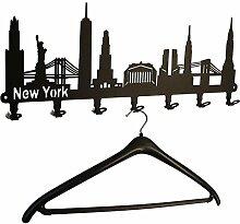 Wandgarderobe New York Skyline - USA Flurgarderobe