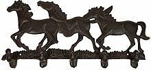 Wandgarderobe Pferde Garderobenhaken Gusseisen