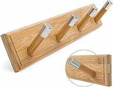 Wandgarderoben aus Holz Kleiderbügel Aufhänger,