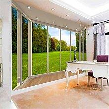 Wandgemälde, 3D-Tapete, Fenster, Moderner