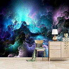 wandgemälde abstrakt 350x245cm Ozeanwelle Galaxie