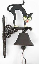 Wandglocke Türglocke KATZE Gußeisen Katze Glocke