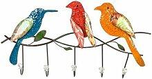 Wandhaken Vogel-Design, Höhe 31,5 cm