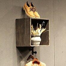 Wandhalterung Regal Wandregale Retro Kleidung Racks Schuh Regale Shop Wandmontage Dekorative Regal Wandregale ( Farbe : A )