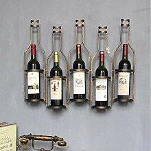 Wandhalterung Weinregal 5 Flaschen Metall Eisen