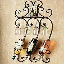 Wandhalterung Weinregal Glashalter 3 Flaschen
