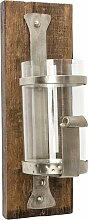 Wandkerzenhalter Wood 13,5x17x38,5 cm braun