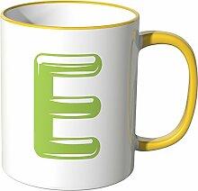 Wandkings® Tasse, Buchstabe: E - GELB