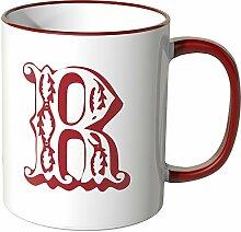 Wandkings® Tasse, Buchstabe: R - ROT
