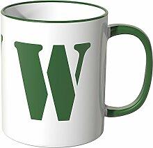 Wandkings® Tasse, Buchstabe: W - GRÜN