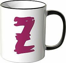 Wandkings® Tasse, Buchstabe: Z - SCHWARZ