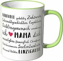 Wandkings® Tasse, Mama Eigenschaften - HELLGRÜN
