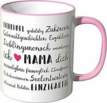 Wandkings® Tasse, Mama Eigenschaften - ROSA
