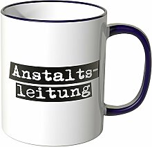 Wandkings® Tasse mit dem Schriftzug Anstaltsleitung - Lila