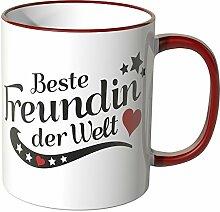 WANDKINGS® Tasse, mit Spruch: Beste Freundin der