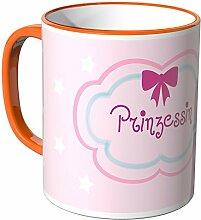 Wandkings® Tasse, Schriftzug: Prinzessin - ORANGE