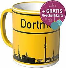 Wandkings® Tasse, Skyline Dortmund - GELB