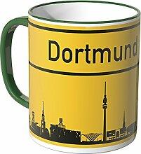 Wandkings® Tasse, Skyline Dortmund - GRÜN