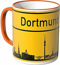 Wandkings® Tasse, Skyline Dortmund - ORANGE