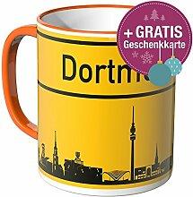 Wandkings® Tasse, Skyline Dortmund - ORANGE