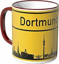 Wandkings® Tasse, Skyline Dortmund - ROT