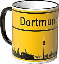 Wandkings® Tasse, Skyline Dortmund - SCHWARZ